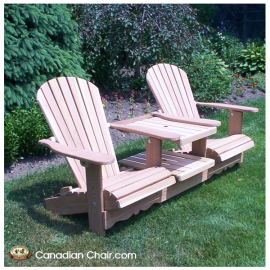 Double Adirondack Chair (Tête a Tête)